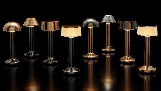 Lampe de table sur batterie