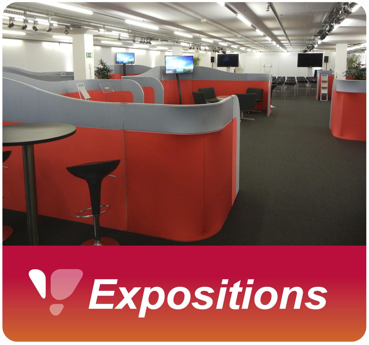 Location de chaises et tables pour congrès et salons d'expositions