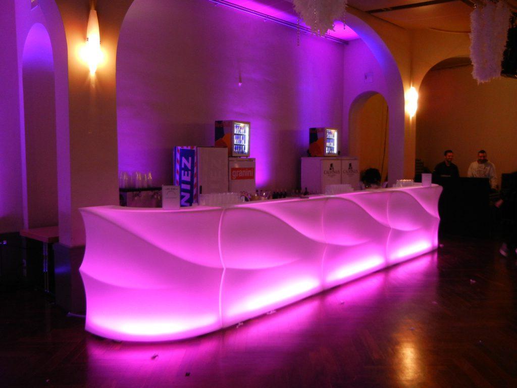 Location de bars lumineux avec éclairage à LED