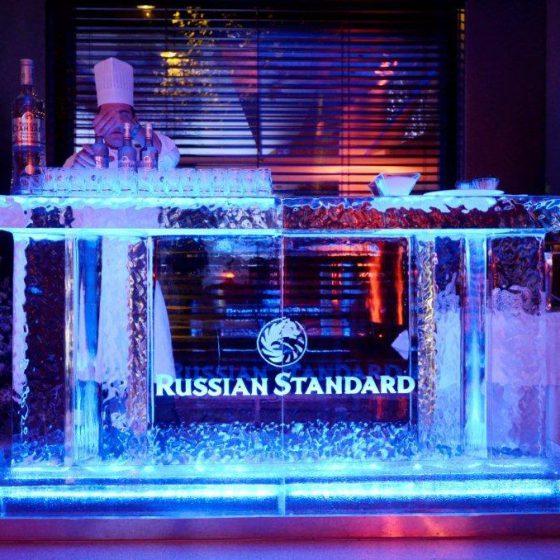 Bar en glace avec logo