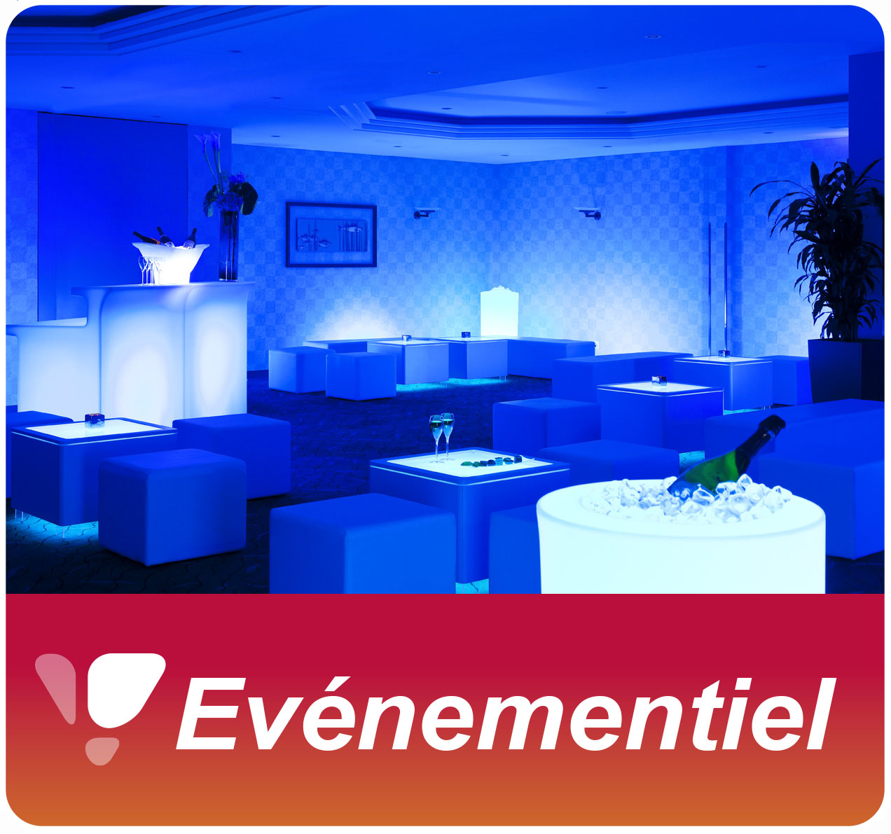 Location de tables lumineuses et de lounge