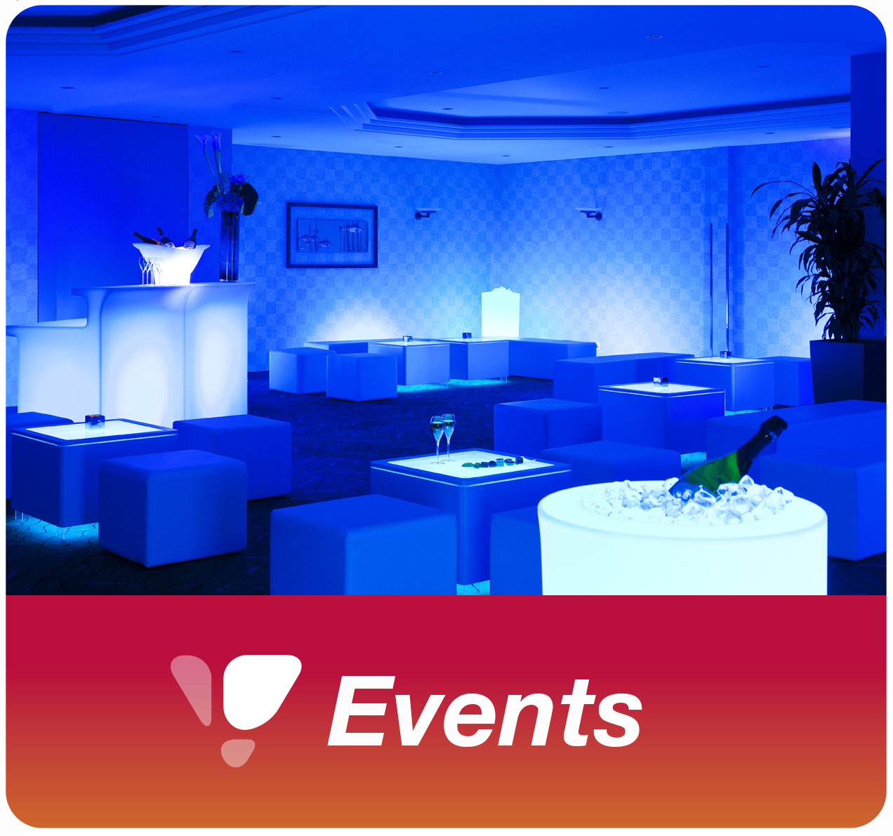 Rental of LED furniture and decoration