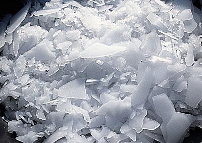 Distribution de glace pilée et glace paillette